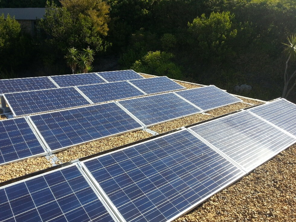 Flat roof mounted Solar System Hout Bay