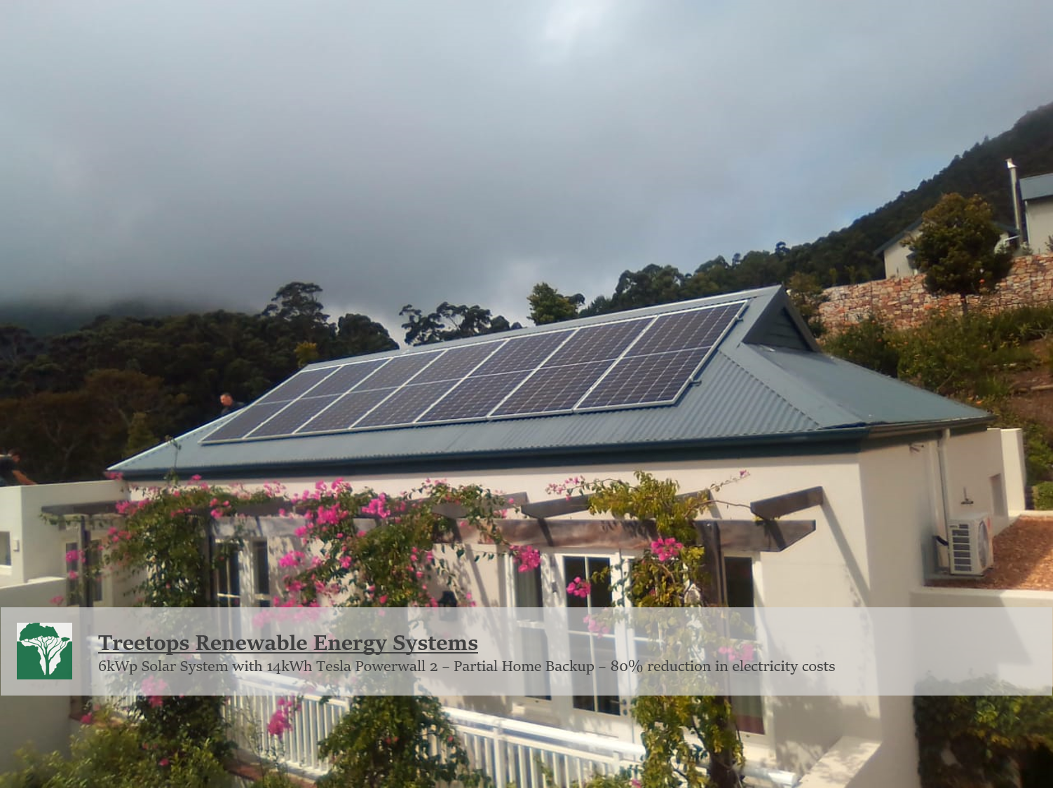 Solar Power System with Tesla Powerwall 2 in Hout Bay, Cape Town
